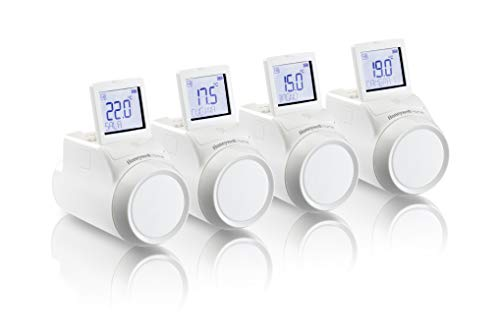 Valvola termostatica elettronica da radiatore per sistema evohome, kit 4 pezzi, Honeywell Home