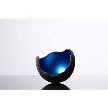 Lichtschale blau – S (15cm) – Beton schwarz – grau – Unikat handmade – Geburtstagsgeschenk – Einzigartiges Geschenk – Deko – Weihnachtsgeschenk