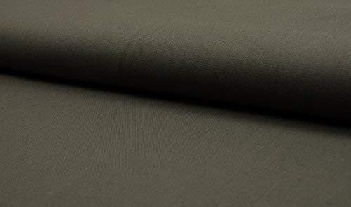 CRS Fur Fabrics Luxus 100% Baumwolle Schwere Canvas Stoff Craft Material-Dk Khaki Dk Khaki