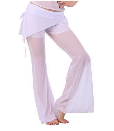 La signora pantaloni di ballo, danza del ventre , white