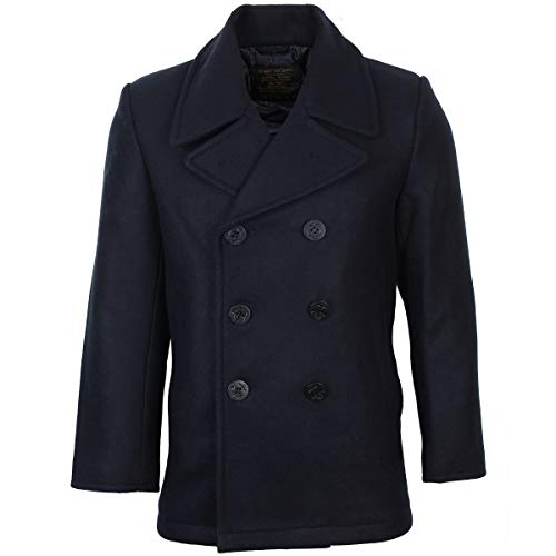 Mil-Tec Herren Us Navy PEA Coat Tuch Jacke, Dunkelblau, L Us-navy