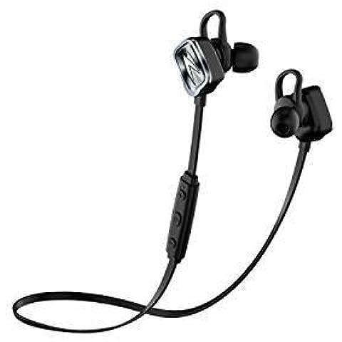 FreeGo Auriculares Bluetooth 4.1, Cascos Deportivos para Correr Deporte, con Micrófono, Manos Libres, Reproducción de 8 Horas compatible con iPhone y Huawei Android Movíl