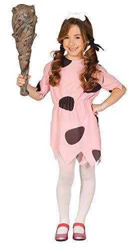 Guirca Steinzeitkostüm Höhlenfrau Kinderkostüm Höhlen Höhlenmensch Comic TV Star Kleid Mädchen 98-146, Größe:122/128