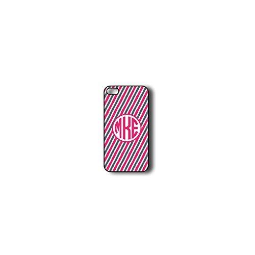 krezy Coque iPhone 6Plus Coque Monogramme, MONOGRAMME Motif rayures colorées pour iPhone 6Plus, iPhone 6Plus Coque Monogramme, iPhone 6Plus Coque Housse