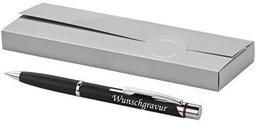 Exklusiver Rotring Kugelschreiber Modell MADRID schwarz inkl. Gravur Lasergravur graviert neu