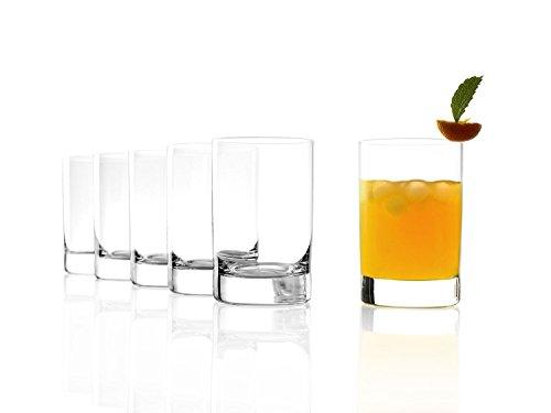 Stölzle Lausitz New York Bar Saftgläser 290ml, 6er Set Wassergläser, spülmaschinenfest, bleifreies Kristallglas, hochwertige Qualität (Tumbler York City New)