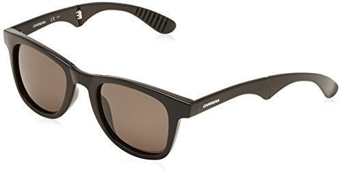 Carrera 6000/FD NR D28 Gafas de Sol, Negro (Shiny Black/Brown Grey), 50 Unisex-Adulto