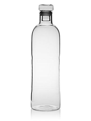 Evilandat BPA-frei Wasserflasche Trinkflasche Glasflasche, Heiß und Kalt Getränk Zum Mitnehmen Glas Wasserflasche mit Bezug 1100ml/500ml (Sauerstoff-flasche-tasche)