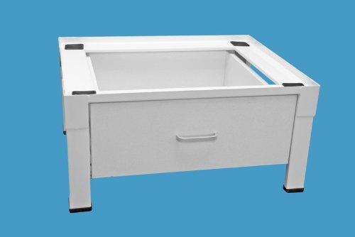 daniplus© Unterbausockel, Untergestell, Plattform für Waschmaschine / Trockner mit Schublade