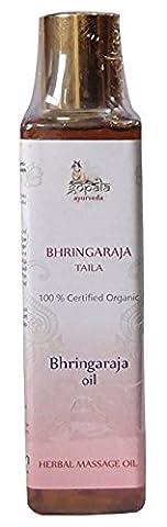 Gopala Ayurveda Ayurvedisches Haar & Kopf Massageöl, Bhringraja Öl, 100% USDA zertifiziert, Bio Massage-Öl,