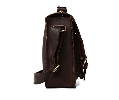 DJB/ Leder Mann Tasche Retro-poliert Leder Herren casual Mode Laptop Schulter Umhängetasche 1
