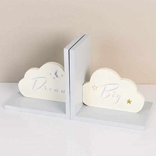 """Bambino Buchstützen in Wolkenform, mit Aufschrift""""Dream Big"""", Hellblau"""
