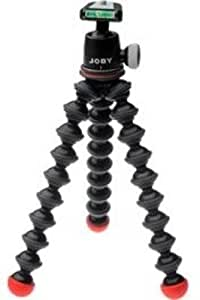 Joby GP3 GorillaPod SLR-Zoom Flexible Compact Tripod, 3kg Weight Capacity + BH1 Ball Head with Bubble Level  (Black/Red)
