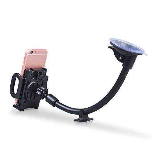 Support Voiture Pare-Brise Car Mount Grip Universel Long Bras Pare-Brise Voiture Berceau avec Base Extra Multi-Party Ajustement, Flexible et Solide pour la Plupart des téléphones Mobiles