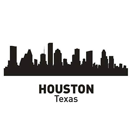 Wandaufkleber Wandtattoo 29X60 Cm Houston City Aufkleber Wahrzeichen Skyline Sketch Decals Poster Parede Home Decor Aufkleber