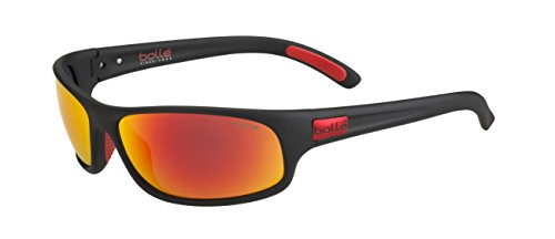 bollé Erwachsene Anaconda Sonnenbrille, Matt Black Metal Red, Large