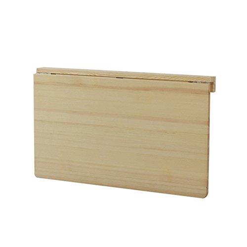Lxla- tavolo a muro a caduta tavolo pieghevole scrivania computer workstation cucina da pranzo organizer tavoli da studio per bambini legno di pino (dimensioni : 80×50×29cm)