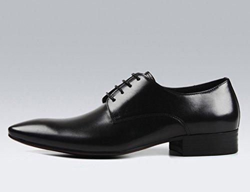 Scarpe da in point Scarpe Nero business Nero da uomo stile Pelle Colore inglese Uomo uomo 5 Scarpe traspirante uomo EU40 dimensioni UK6 da Scarpe qtfAFF