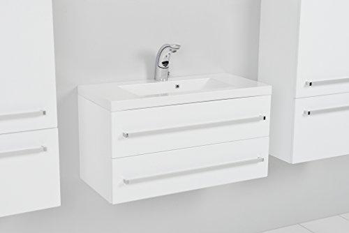 Quentis Waschplatz Genua 80, 2-teilig, weiß, 2 Schubladen