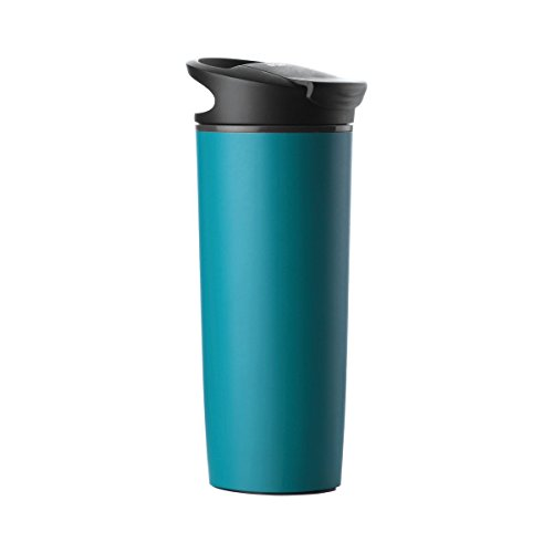 ShopAIS Suction Travel Mug Spill Free Mug Coffee Tumbler Leak Proof Insulated Never Fall Over Cup (ASSORTED COLOR)
