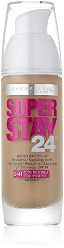 Maybelline New York Superstay 24H Fondotinta Liquido, 40 Fawn