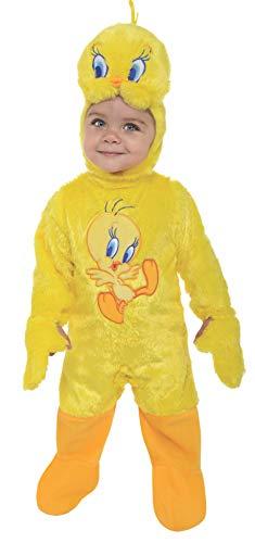 Sylvester Kostüm - Rubie's 3 881541 18M - Tweety Romper Kostüm, Größe 18 Monate