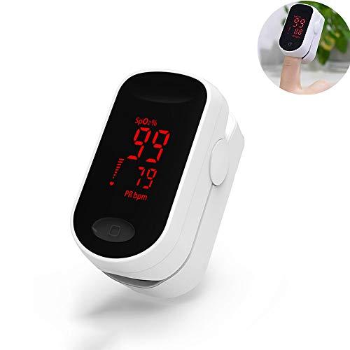 DOOKK Fingerspitzen-Pulsoximeter, Sauerstoffmonitor SpO2 mit LED-Anzeige und Pulsfrequenzsensor Sportübung SpO2-Fitness-Tracker -