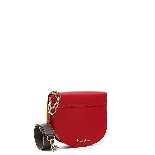 Borsa tracollina Braccialini Mila con borchie Rosso
