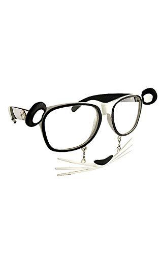 Horror-Shop Panda Brille mit Schnurrhaaren