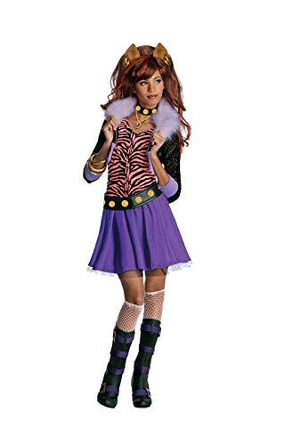 Horror-Shop Mädchen Kostüm Clawdeen Wolf S (Clawdeen Halloween-kostüme Monster High)