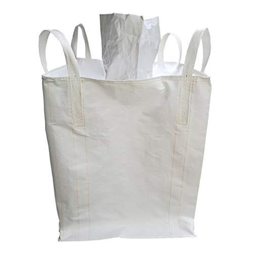 B Baosity Transportsack Big Bag, 90x90x110cm, 1,5-2 Tonnen, Oben offen, Transport von Steinen, Sand, Kies, Kunststoffgranulaten, Düngemitteln, Getreide usw