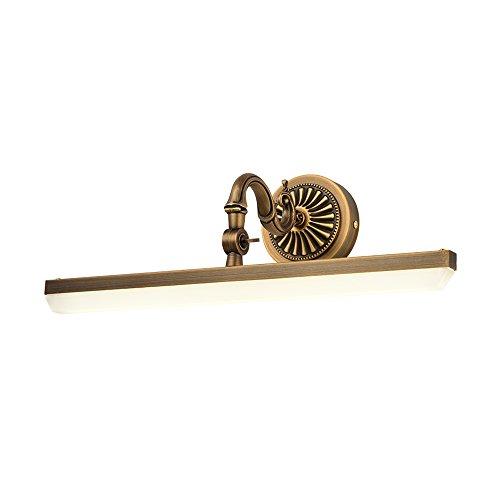 J-Q-D Europäischen Stil Kupfer Spiegel Scheinwerfer, 430mm Badezimmer Badezimmer Spiegel Spiegel Lampe LED Lichter A++ (größe : 58cm)