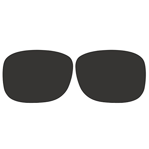 ACOMPATIBLE Ersatz-Objektive für Oakley Sonnenbrille Discreet OO2012, Black - Polarized