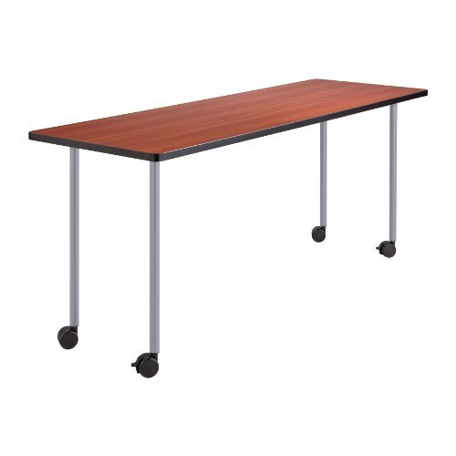 Leg Table Base (Safco Products 2074SL Impromptu Mobile Training Table Post-Leg Base 28H (Top sold separately), Silver by Safco Products)