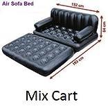 #2: Mix Cart Air Sofa Cum Bed Recliner Lounger Kids Children Baby Bad Gift with AC Air Pump (Black)