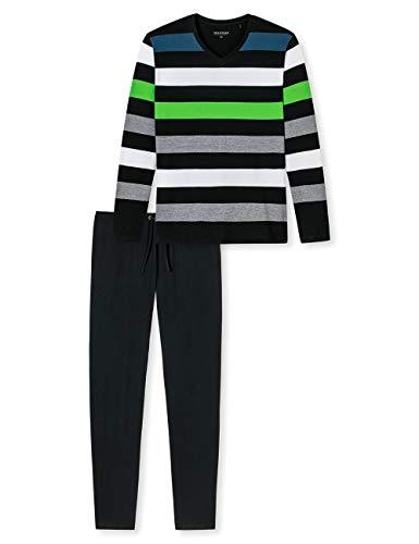 Schiesser Herren Anzug Lang Zweiteiliger Schlafanzug, Mehrfarbig (Green 1 904), Medium (Herstellergröße: 050)