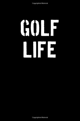 Golf Life: Blank Lined Journal College Rule Stencil Font por Sportslo Notebooks