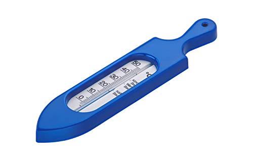 Rotho Babydesign Badethermometer, Ab 0 Monate, Quecksilberfreie Messflüssigkeit, TOP, Royal Blue Pearl (Dunkelblau), 20057026501
