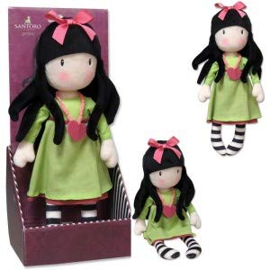 Gorjuss M-03-G Muñeca de Trapo en Display - Heartfelt, 30 cm