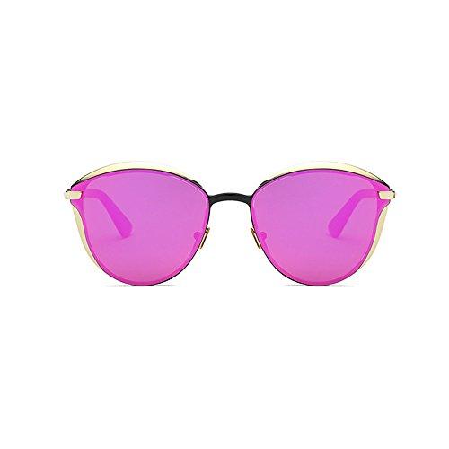 Douerye Retro Runde MURMURE Sonnenbrille Paris Modeschau Stern Mit Dem Absatz,Red