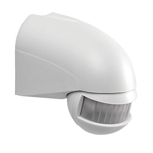 Saxby Adjustable 180 ° IP44 mural capteur de mouvement PIR White