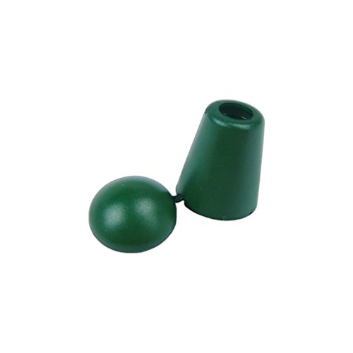 PARACORD PLANET Paracord, Bell Stopper Cord Ende mit Verriegelung Deckel-5, 10, und 20Packungen, Military Green, 20 Pack -