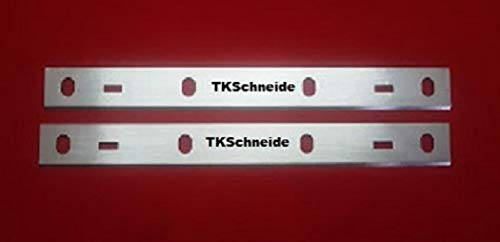 2er Set Hobelmesser für STAHLMANN Hobelmaschine, 6 Loch, 210 x 20 mm