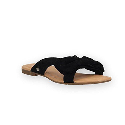 UGG Australia Damen Fonda Pantoffeln, Schwarz (Black Black), 40 - Einlegesohlen Uggs Frauen