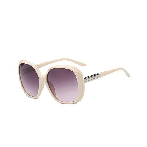 Sport-Sonnenbrillen, Vintage Sonnenbrillen, NEW Fashion Big Frame Sunglasses Women Brand Designer Gradient Lens Travel Sun Glasses UV400 Oculos De Sol Gafas White