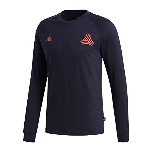 Adidas tango maglietta a maniche lunghe, da uomo, uomo, dj1498, leggenda inchiostro, m