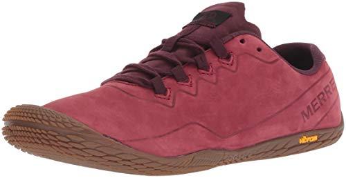 Merrell Vapor Glove 3 Luna Leather Sneaker Donna, Rosso Pomegranate, 38 EU