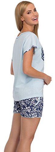 Italian Fashion IF Pigiami Due Pezzi da Donna Maya 0227 Blu/Blu Scuro