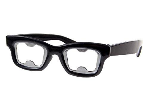 Alsino Flaschenöffner Nerdbrille Partygag - Farbe: Schwarz