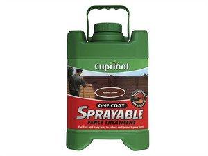 Cuprinol Spray zur Zaun-Behandlung- Herbstgold, 5 - öl Spritze Gun